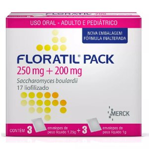 FLORATIL PACK Pediatrico com 6 sachês - Merck