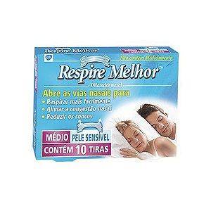 RESPIRE MELHOR PELE Sensivel C/10 TIRAS (seca)