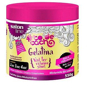 Gelatina Tô de Cachos Vai Ter Volume Sim Mix Salon Line 550g