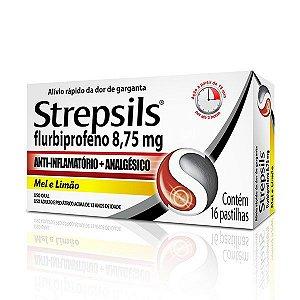 STREPSILS 16 PASTILHAS Mel e Limão