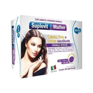 Suplevit Mulher (cabelo, pele e unhas)  30cps - EMS
