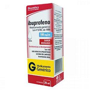Ibuprofeno gts 100mg 20ml BIOSINTETICA