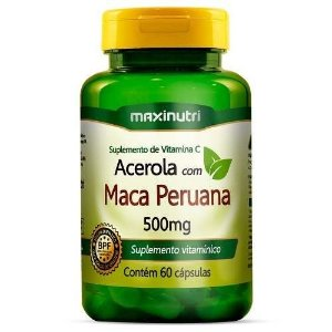 Acerola com Maca Peruana 500mg 60caps Maxinutri