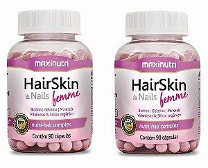 HairSkin Femme (cápsula Da Beleza) 180 cps Maxinutri