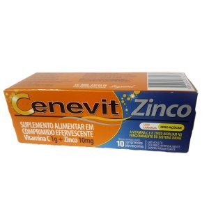 Vitamina C Zinco 10cpr efervecente - CENEVIT LEGRAND