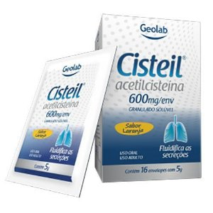 ACETILCISTEINA 600MG 16 ENV - CISTEIL