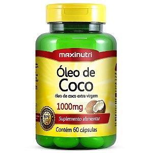 Oleo de Coco 1000mg com 60caps Maxinutri