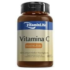 VITAMINA C 500MG 60CPR MASTIGAVEL - VitaminLife
