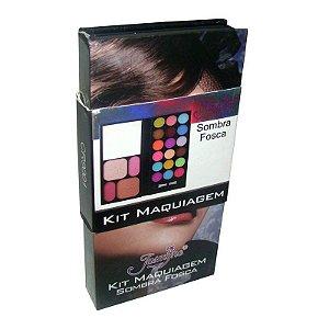 Kit Maquiagem Jasmyne 18 Sombras Foscas+2Blushes+2 Pós