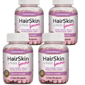 Hairskin & Nails Femme  4un de 90cápsulas