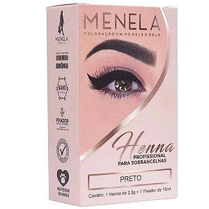 Henna para Sobrancelhas Menela Preto 2,5g + Fixador 15ml