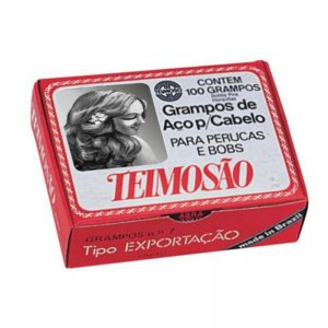 Grampo Cabelo Temoso Nº7 Preto c/ 100