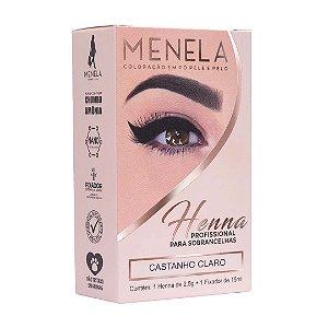 Henna Para Sobrancelhas Menela Castanho Claro 2,5g +Fixador
