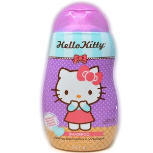 Shampoo Hello Kitty 260ml Cabelos Cacheados