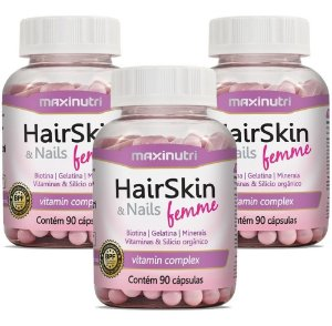 HairSkin Femme (cápsula Da Beleza) 270 cps Maxinutri
