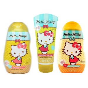 Kit  Hello Kitty Cabelos Finos e Claros
