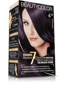 Tintura beauty color 4.20 castanho violeta intenso
