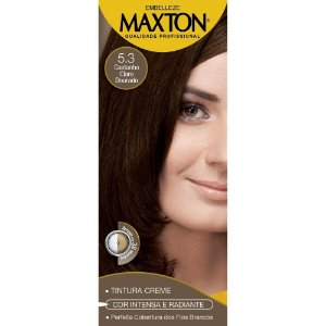 Tintura Maxton Kit 5.3 Castanho Claro Dourado