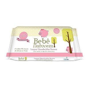 Lenço Umedecido Bebê Natureza Suave Perfume Rosa 50un