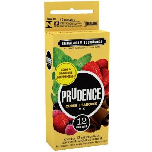 Preservativo Prudence Plus Mix c/ 4 Sabores 12 un