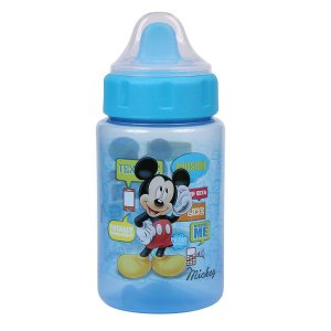 Copo Infantil BabyGo Mickey c/Tampa e Valvula 340ml  Azul