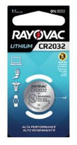 Bateria Rayovac Littium 3V CR2032 unidade
