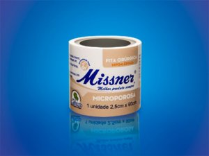 Fita Microporosa Missner Bege 2,5cm x 90cm