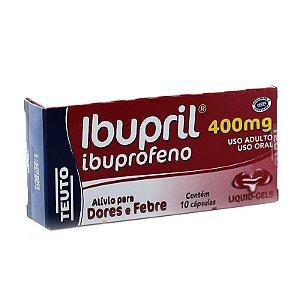 Ibuprofeno - Ibupril 400mg 10Caps gelatinosas Teuto