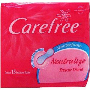 Abs Protetor Diario Carefree Neutralize  s/ Perfume c/ 15