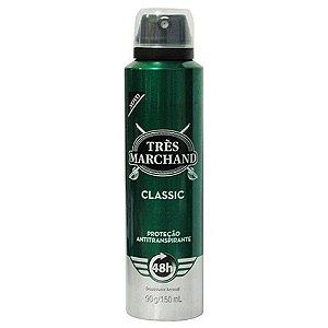 Desodorante Tres Marchand Aerosol Classic 150mL/ 90G