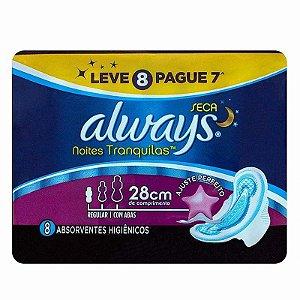 Abs Always Noturno 28cm Seca C/Abas L8P7