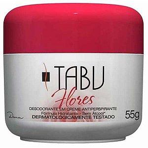 Desodorante Tabu Creme Flores 55g