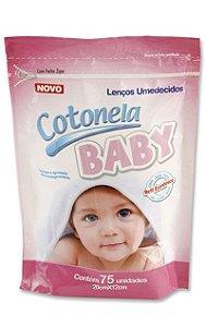Lenco Umedecido Cotonela Baby  Refil c/ 75 unid. Rosa