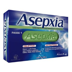 Asepxia Sabonete 85gr Adstringente Herbario