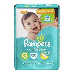 Fralda Pampers Confort  Sec G c/20cunidades