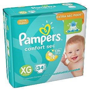 fralda Pampers Confort Sec XG 34