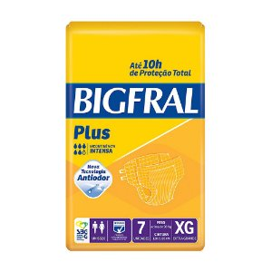 Fralda Bigfral Plus XG Adulto c/7 Unidades