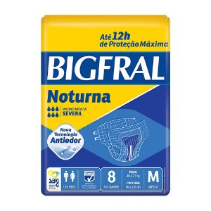 Fralda BigFral Noturna Tam M c/ 8