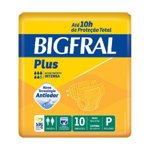 Fralda Bigfral Plus P Adulto c/10 Unidades
