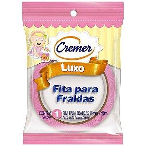 Fita Crepe Cremer Luxo Rosa 19mm X 20m