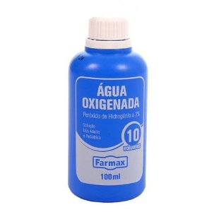 Agua Oxigenada 10 Volumes 100ml  Farmax