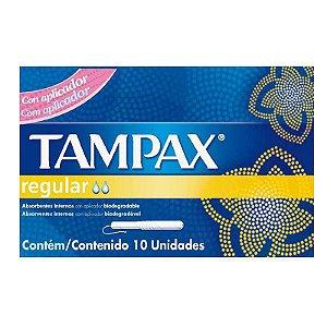 Absorvente Tampax c/ 10 unid Regular Médio