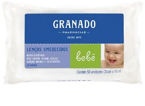 LENÇOS UMEDECIDOS GRANADO LAVANDA 50UN