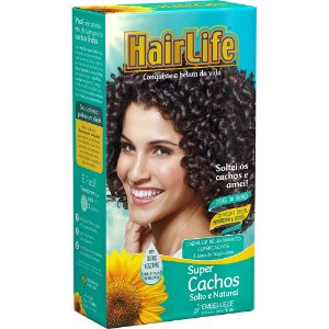 Creme Relaxante HairLife Super Cachos Solto e Natural KIT