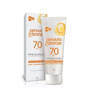 Protetor Solar Cenoura & Bronze Facial FPS 70 50gr