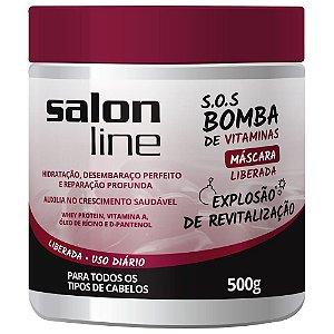 Máscara Salon Line  SOS Bomba de Vitaminas Liberada 500g