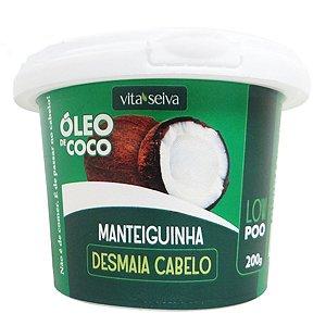 Manteiguinha Oleo Coco Desmaia Cabelo 200g Vita Seiva