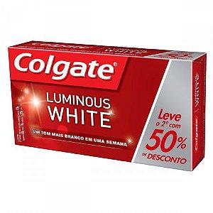 Creme Dental Colgate Kit Luminous White 70g 2un