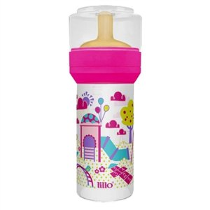 Mamadeira Lillo Super Latex Divertida 260ml Rosa Cod.614531