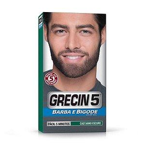 GRECIN 5 BARBA BIGODE CASTANHO ESCURO (M-100) 28g